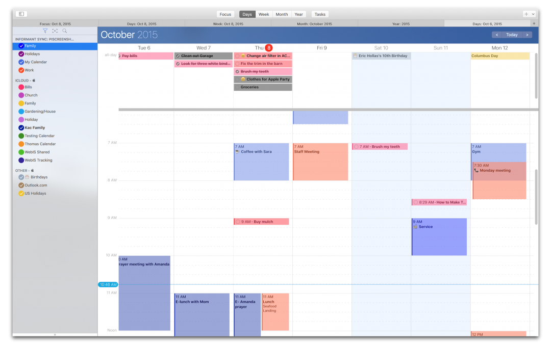 Informant for OS X - The one Calendar/Task solution for professionals Image